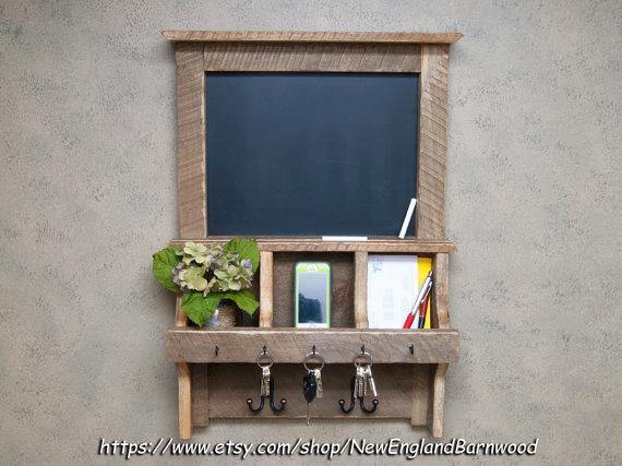 Rustic Chalkboard Mail Organizer Shanty 2 Chic