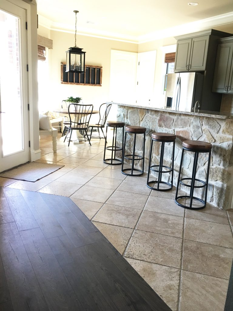 Laminate flooring in my kitchen shanty 2 chic - Carpet or laminate in living room ...