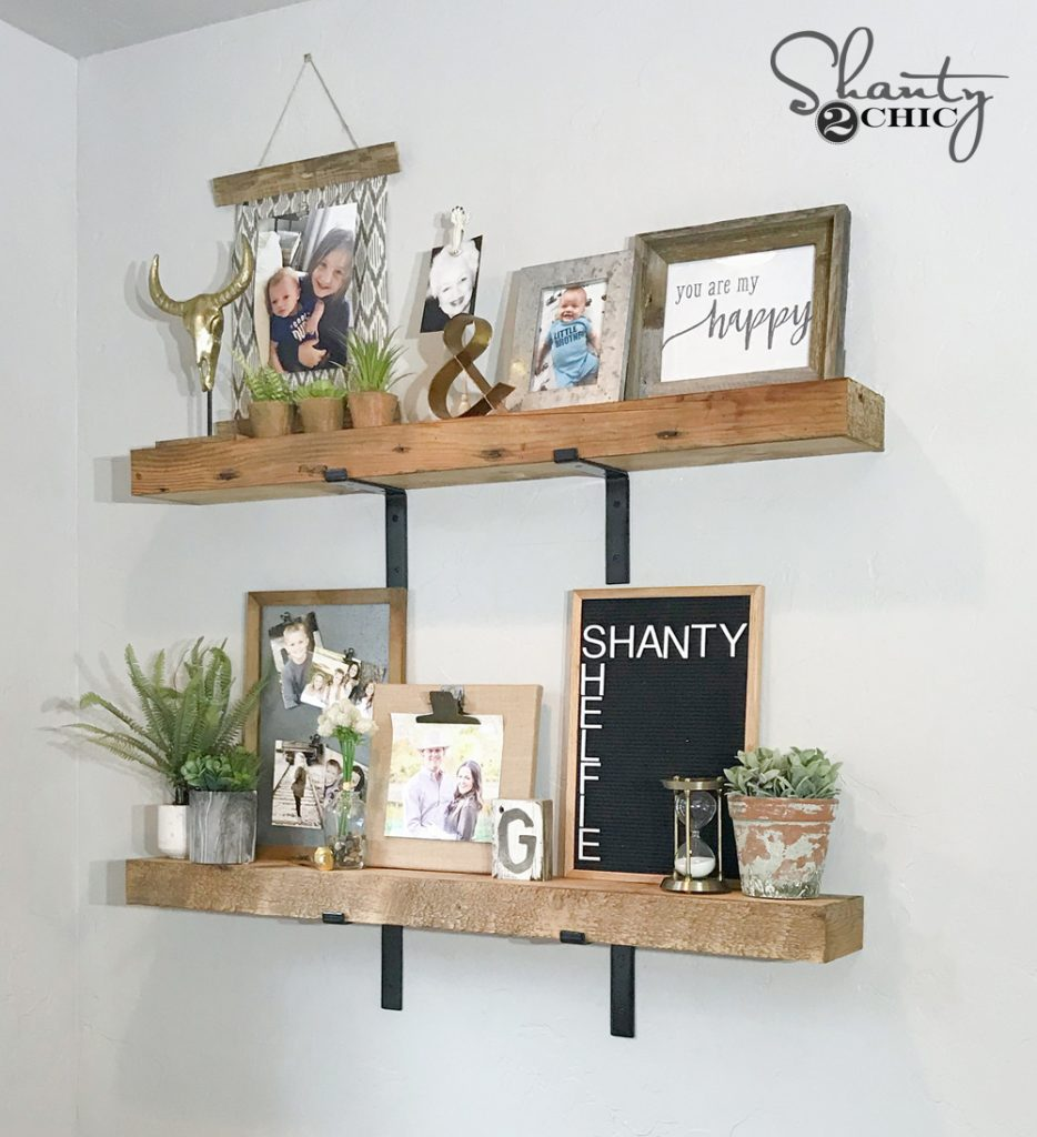DIY Chunky Industrial Shelves