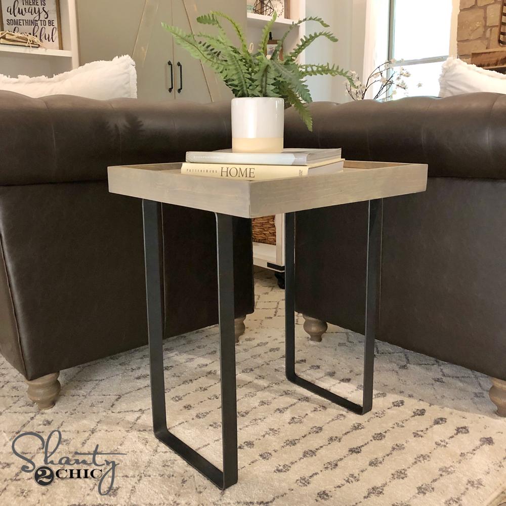 DIY Modern Rustic End Table - Shanty 2 Chic